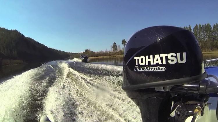 Обкатка лодочных моторов Tohatsu