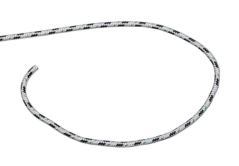 F8108000. Трос фаловый 8мм. бело-черный F8108000