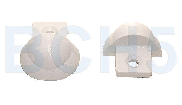 EPOLY35W. Заглушки защитные 2шт. белые д/профиля EPOLY35W