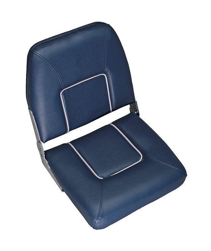 CHFSB. Сиденье раскладное синее с белыми швами CHFSB