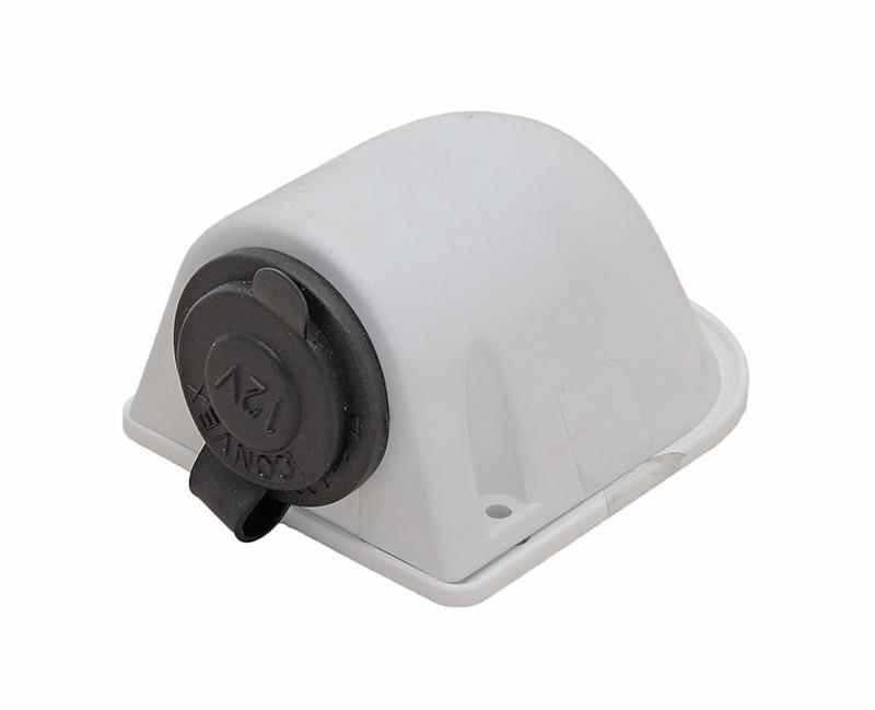 14.517.06. Гнездо прикуривателя белое, обтекаемый корпус 14.517.06