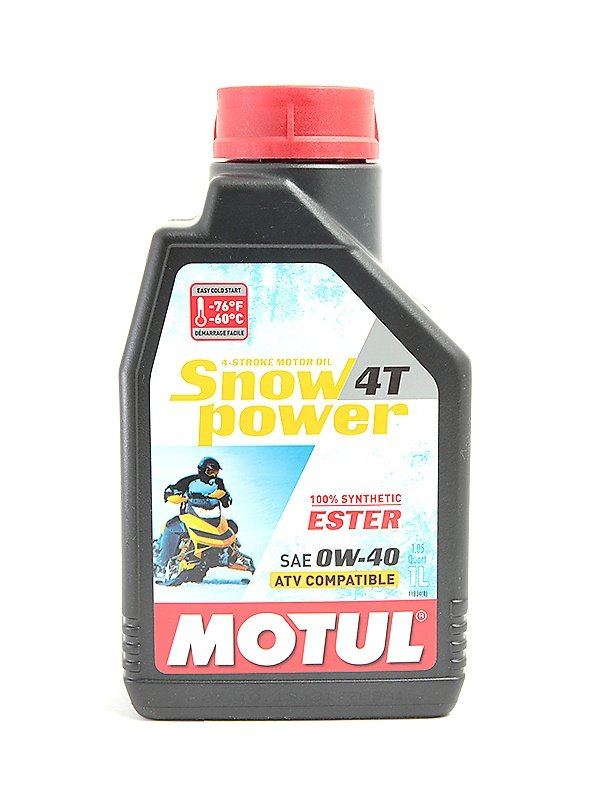 101230. Масло Motul Snow Power 4х такт.0W40 (1л) дл 101230