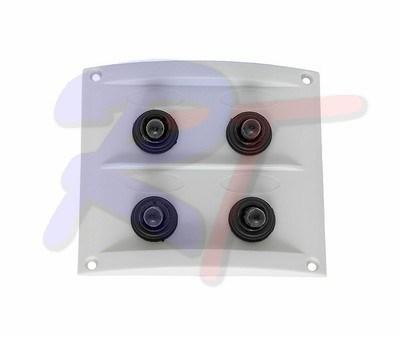 RTA-10044-WF. Панель выключателей, белая. RTA-10044-WF