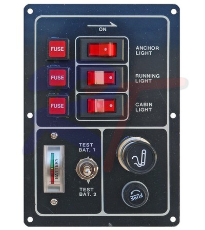 RTA-10083. Панель выключателей, черная. RTA-10083