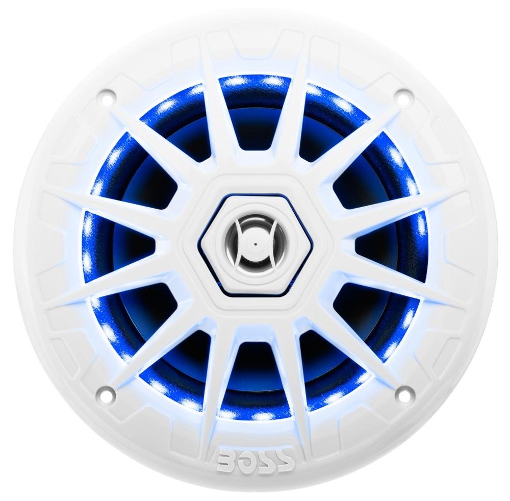 MRGB65. Аудиоколонки врезные 165 мм 200W 2-полосные с подсветкой белые MRGB65