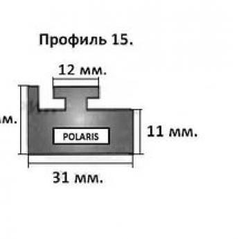 15-57.00-0-02-01. Направляющая гусеницы снегохода Polaris (черный) профиль 15