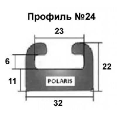24-64.00-1-01-01. Направляющая гусеницы снегохода Polaris (черный) профиль 24