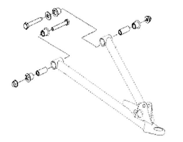 SM-08092. Комплект втулок для нижних рычагов (08-466, 08-467) BRP