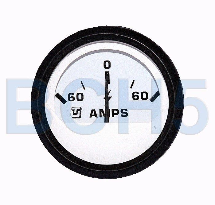 60540S. Амперметр 60-0-60 (белый) 60540S