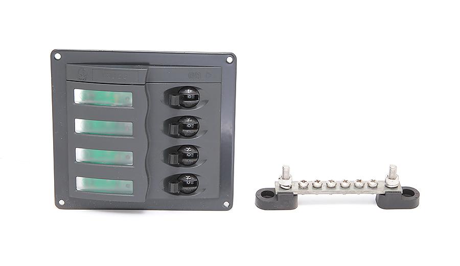 900-DC. Панель переключателей 4-позиционная 900-DC