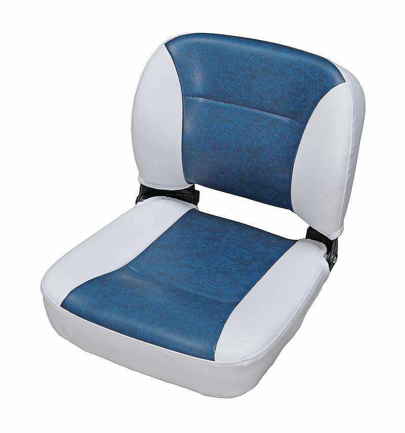 C12509W/L. Сиденье раскладное бело-синее C12509W/L