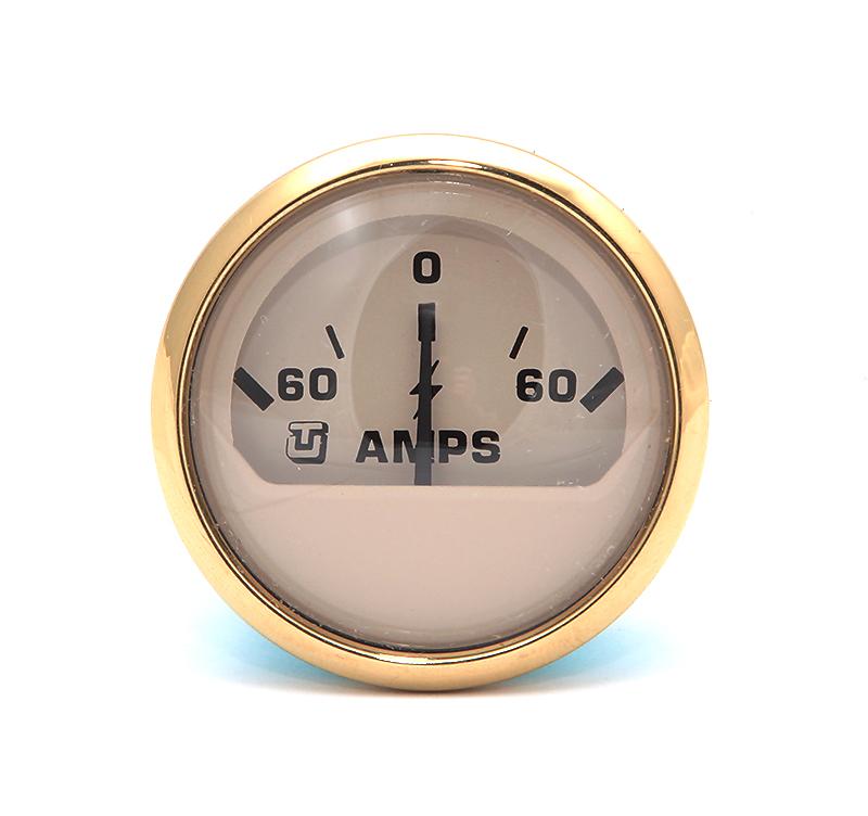 62060V. Амперметр 60-0-60 золотистый 62060V