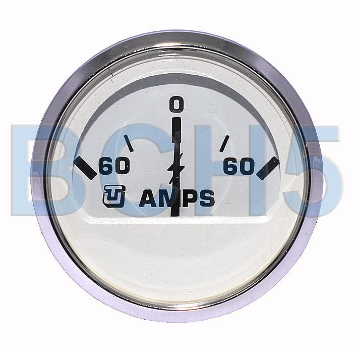 62011F. Амперметр 60-0-60 хром 62011F