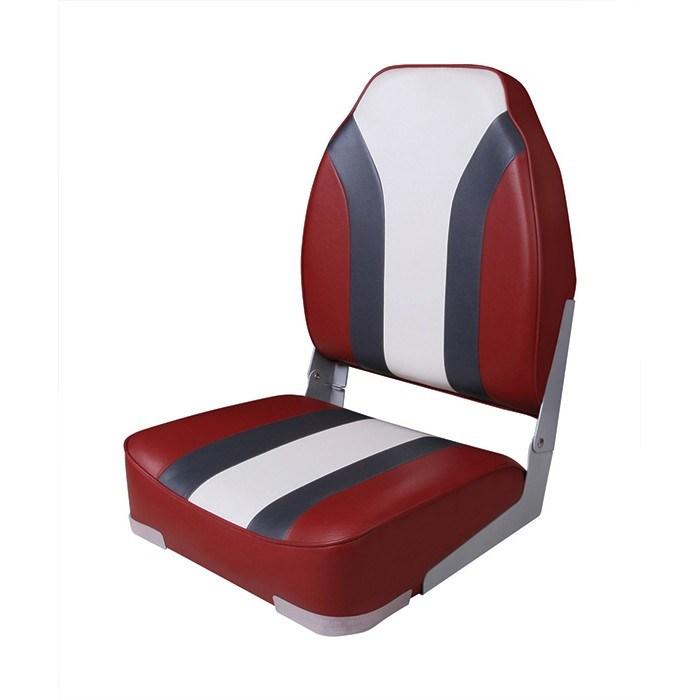 75107RCW. Сиденье мягкое складное High Back Rainbow Boat Seat, красно-белое