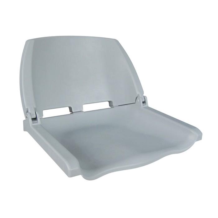 75110G. Сиденье пластмассовое складное Folding Plastic Boat Seat серое 75110G