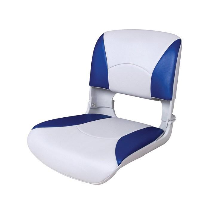 75113WB. Сиденье пластмассовое складное с подложкой Deluxe All Weather Seat, бело-синее