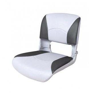 75113WC. Сиденье пластмассовое складное с подложкой Deluxe All Weather Seat, бело-чёрное