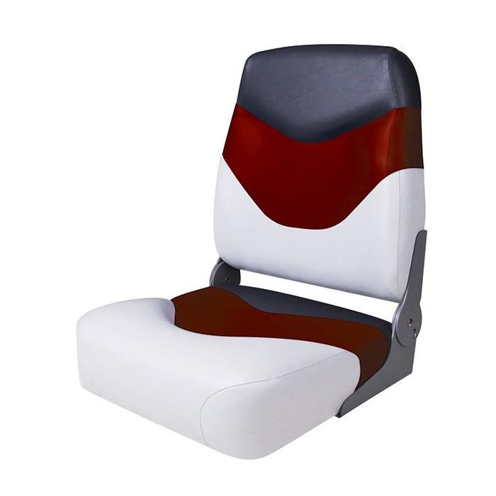 75128WRC. Сиденье мягкое складное Premium High Back Boat Seat, бело-красное