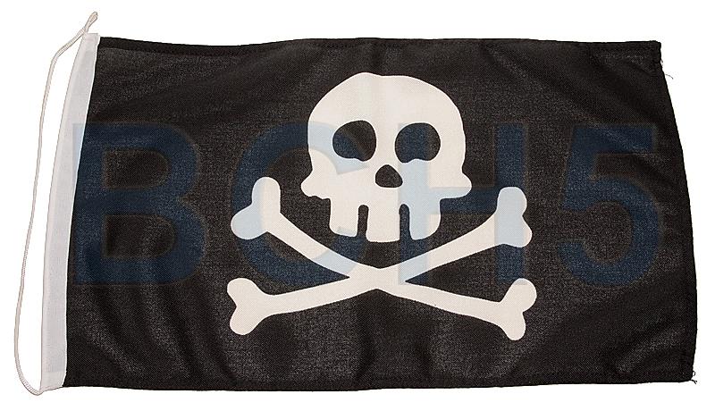 N5434045. Флаг пиратский 30х45см N5434045