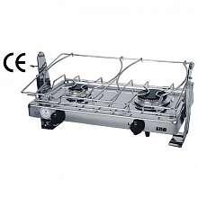 9515008325. Газовая двухконфорочная плита ENO 062491010785 30 миллибар c карданным подвесом и держателем для кастрюль