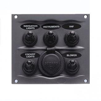 900-5WPS. Панель 5-позиционная с гнездом прикур. 900-5WPS