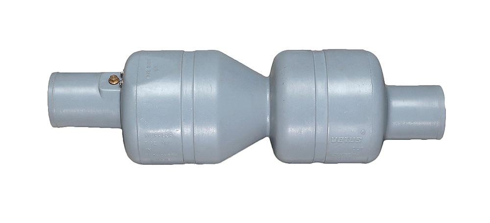 MV100. Глушитель пластиковый 100мм с заслонкой MV100