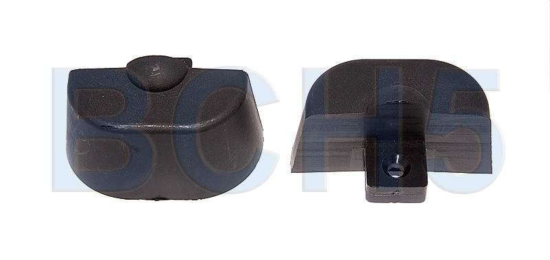 ETRAP70B. Заглушки защитные 2шт. черные д/профиля ETRAP70B
