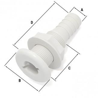 C11850. Стакан корпусной пластик под шланг 16мм C11850