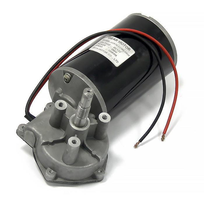 D76-12V-180W-100R. Электромотор c редуктором, 12В