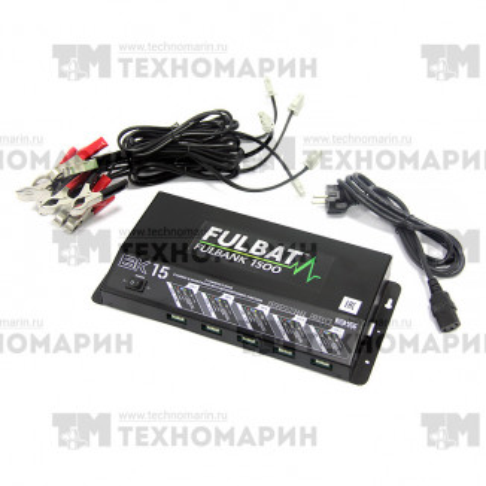 FULLBANK1500. Зарядная станция для пяти аккумуляторов 12 Вольт