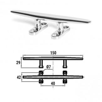 H0004C. Утка швартовная сталь 150 мм H0004C