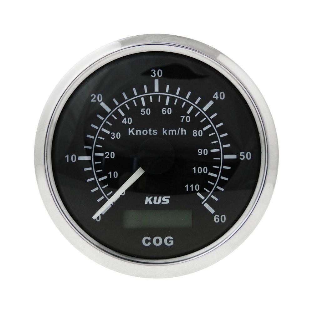 KY08011. Спидометр GPS аналоговый (BS), 60 узл.