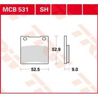 MCB531SH. Колодки тормозные (серия Sinter Street SH)