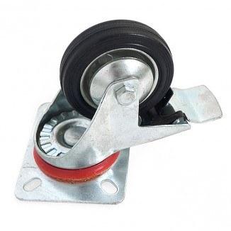 N182080DB. Колесо 80 мм на поворотном кронштейне с тормозом