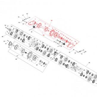 RM-010183. Вал направляющий в сборе Буран RM-010183