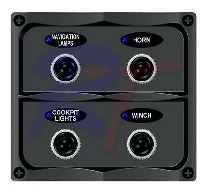 RTJ-10044-BK. Панель выключателей, черная.