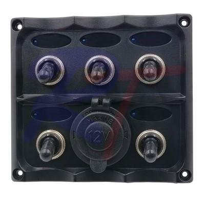RTJ-10160-BK. Панель выключателей, черная.