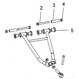 SM-08274. Комплект втулок для верхних рычагов (SM-08213, SM-08214) Polaris SM-08274