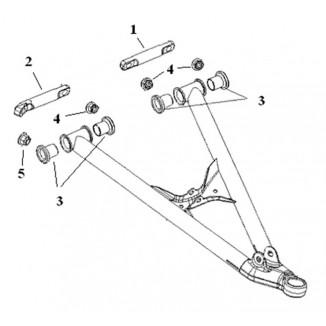 SM-08279. Комплект втулок для нижних рычагов (SM-08183, SM-08184) Polaris SM-08279