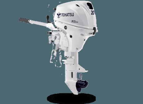 Tohatsu MFS 20EW S. Лодочный мотор Tohatsu MFS 20EW S (белый)