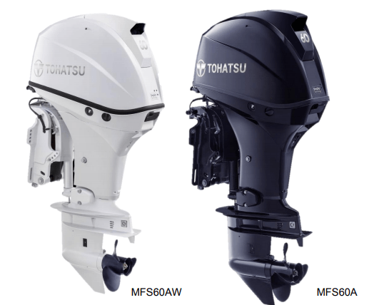 Tohatsu MFS 60AW ETL. Лодочный мотор Tohatsu MFS 60AW ETL (белый)